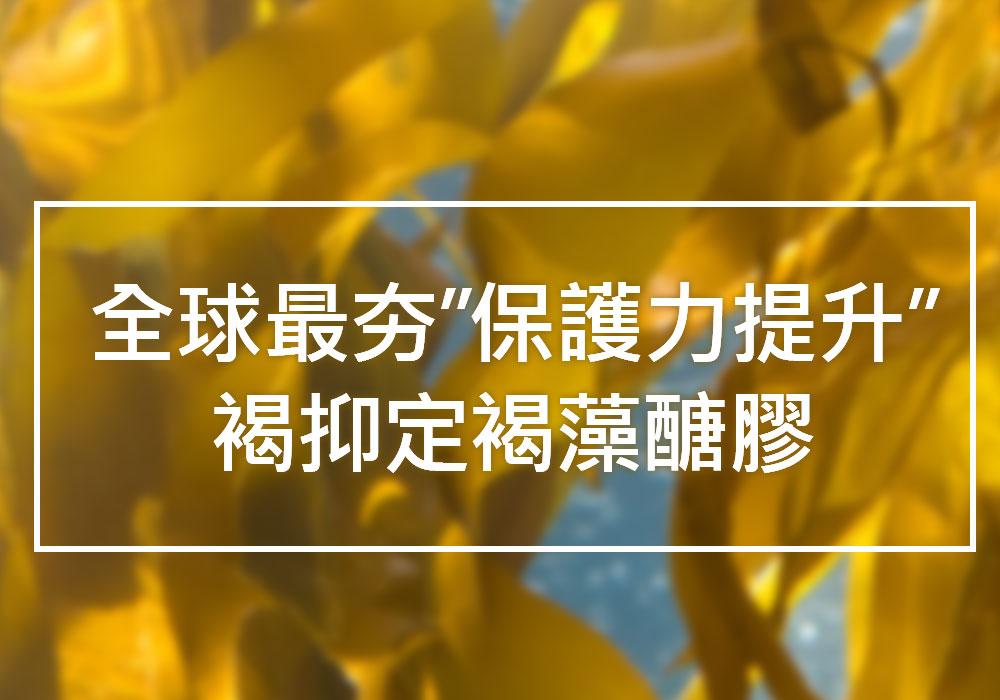 褐抑定褐藻醣膠健康優先 全球最夯提升保護力