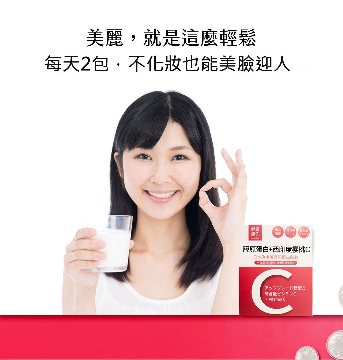 日本膠原蛋白+西印度櫻桃C盒裝-每天2包美麗就是這麼輕鬆吃膠原蛋白-0800-800-924