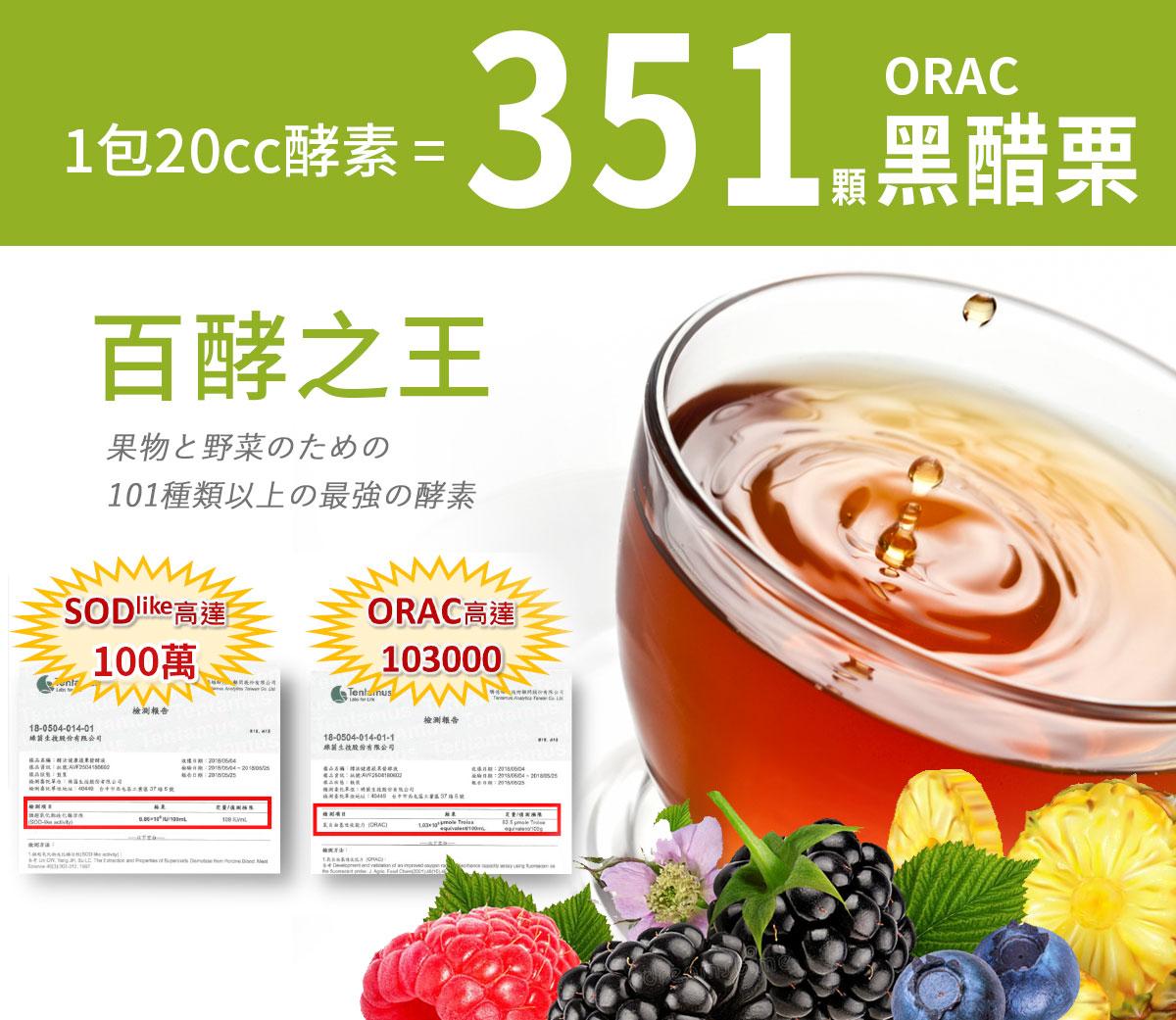 日本零號生酵素-101綜合蔬果酵素-100萬高濃度SOD-排空歸零養顏美容-百酵之王