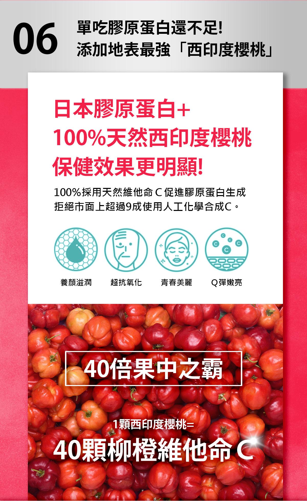 日本膠原蛋白+西印度櫻桃C-你的膠原蛋白有加西印度櫻桃C嗎-0800-800-924